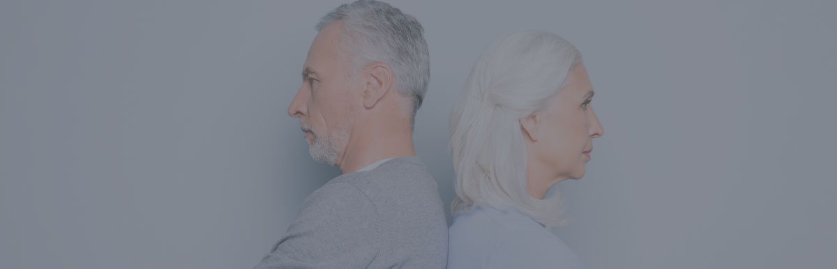 Older Couple Facing Gray Divorce